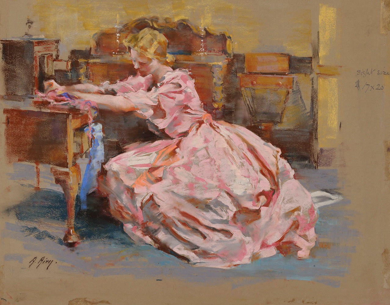 Painting by Anna Airy called Trinkets, 48x59cm, 1951