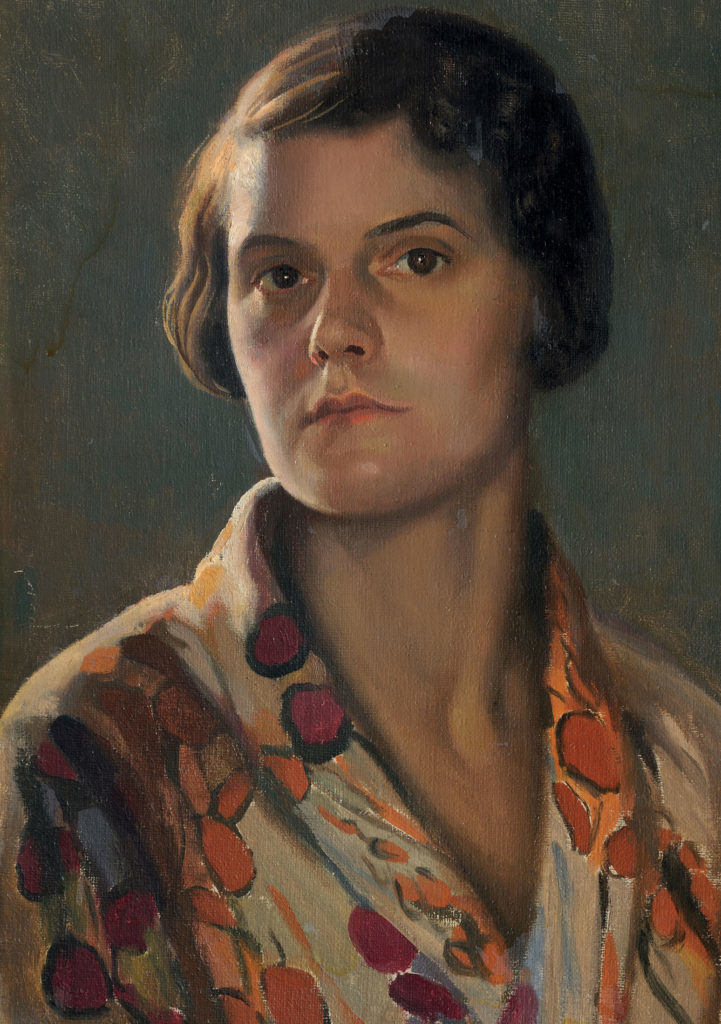 Self-Portrait by Effie Spring Smith, oil on canvas, 47x36cm